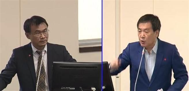 費鴻泰在質詢陳吉仲時,怒轟陳時中「不要臉」。(圖 取自國會頻道直播畫面」