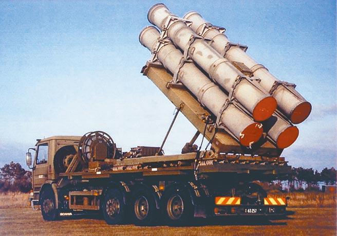 我國擬向美國購買的陸基型魚叉飛彈(Harpoon)。(摘自波音官網)