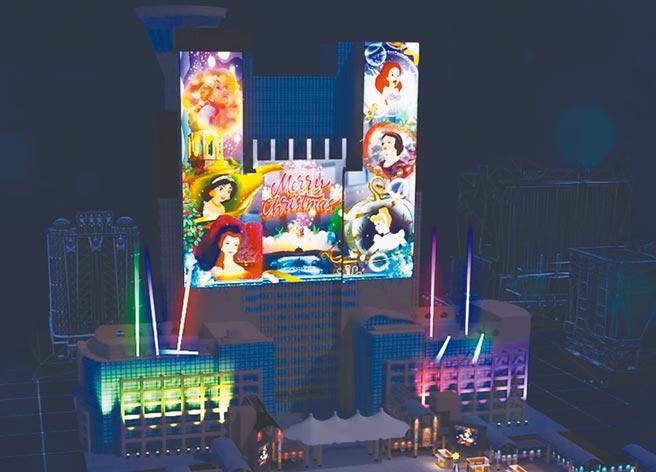 新北歡樂耶誕城首度和華特迪士尼公司合作,邀請《白雪公主》、《美女與野獸》等6大經典公主現身。(新北市觀光局提供/許哲瑗新北傳真)