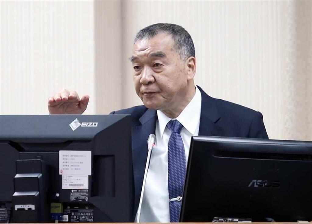 國安局長邱國正29日赴立法院備詢。(姚志平攝)