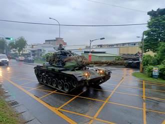 國軍戰備周演訓M60A3戰車開上街  吸引民眾目光