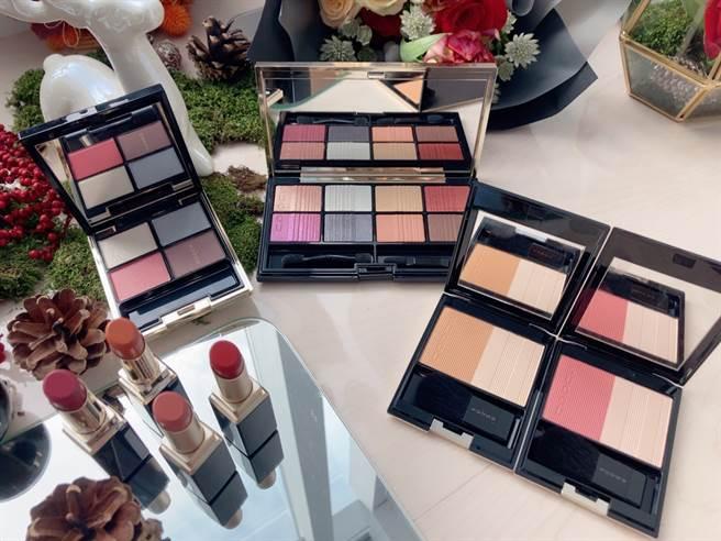 今年SUQQU這波推出的限定彩妝都強調了「減糖彩妝」,顏色不會過於飽和,帶有透明感,彩妝新手也可以輕易上手。(圖/邱映慈攝影)