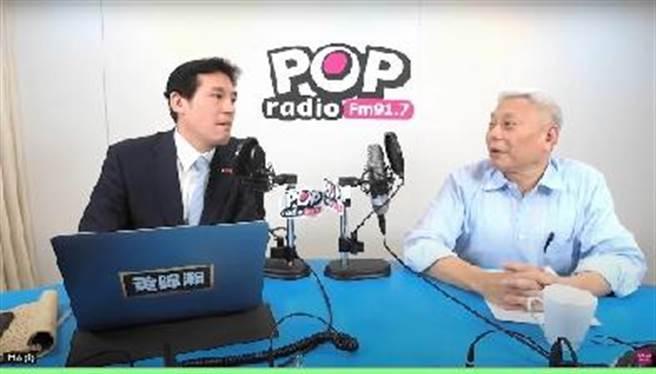 神旺投資公司董事長蔡衍明28日接受「POP撞新聞」主持人黃暐瀚專訪。(圖/POP提供)