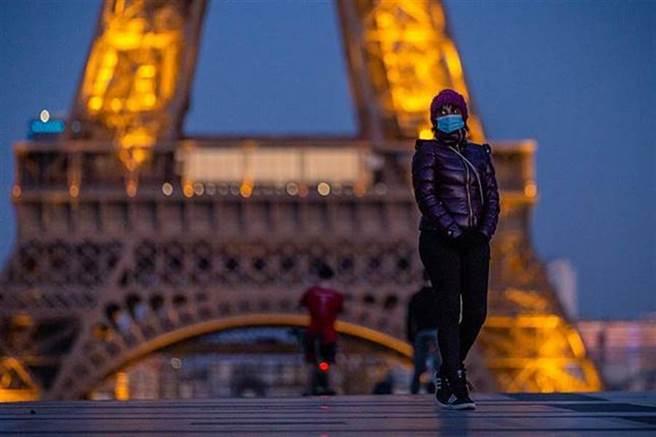 法國宣布全國二度封城 出門要證明(圖/新華社)