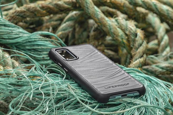 LifeProof新系列WĀKE的85%成分來自回收釣魚線、漁網等海洋再生塑料,製成LifeProof史上最纖薄、可長期使用的保護殼。(LifeProof提供/黃慧雯台北傳真)