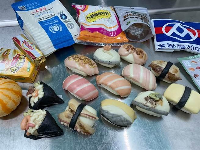 兒子點餐要「壽司造型的饅頭」,媽媽還真的做出超強成品,章魚腳、鮭魚、魚卵等壽司造型通通都有,讓網友們全跪了。(圖/網友授權提供)