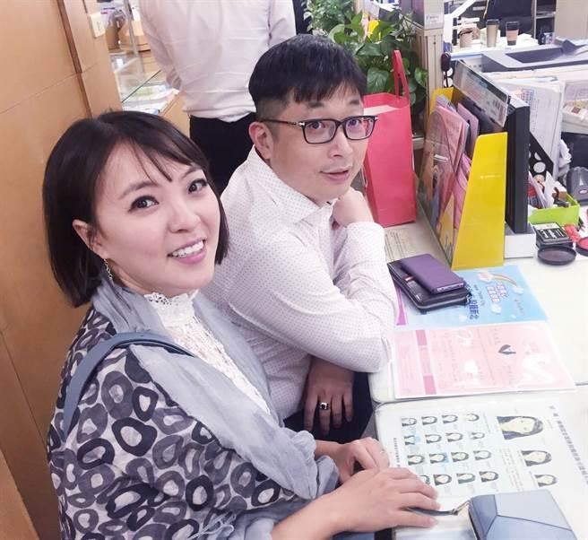 女星宣宣去年5月3日與大她12歲林暘朝醫師低調登記結婚。(照片/宣宣 提供)