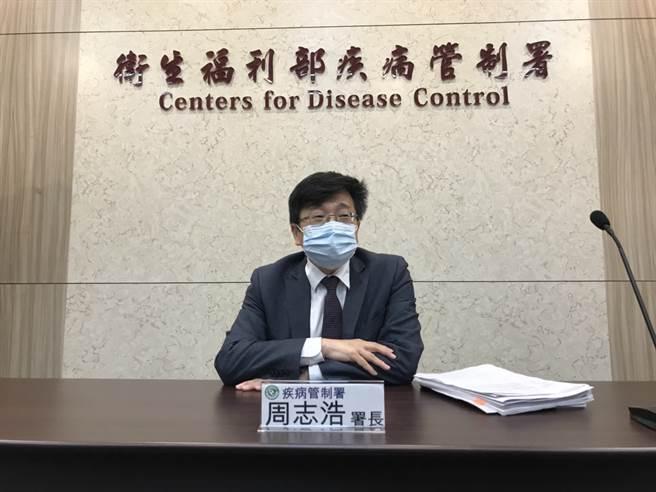 疾管署署長周志浩表示,今天得知馬來西亞,對於賽諾菲和韓國疫苗停止施打,其實沒有必要。(鄭郁蓁攝影)