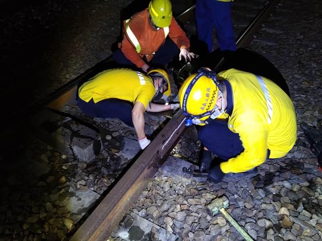 台鐵局表示,行政院亦於今年1月21日核定辦理「台鐵軌道結構安全提升計畫」,將採購各種養路機。(台鐵局提供)