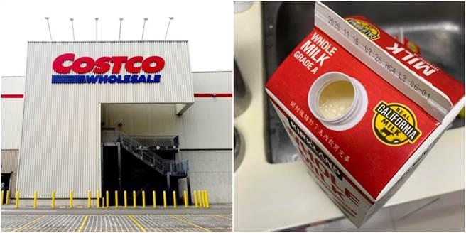一名網友表示赴好市多買牛奶忘了搖一搖,隔日要喝時竟發現可怕的事情,讓她崩潰求助網友。(圖/合成圖,翻攝自Costco好市多 商品經驗老實說、達志影像)