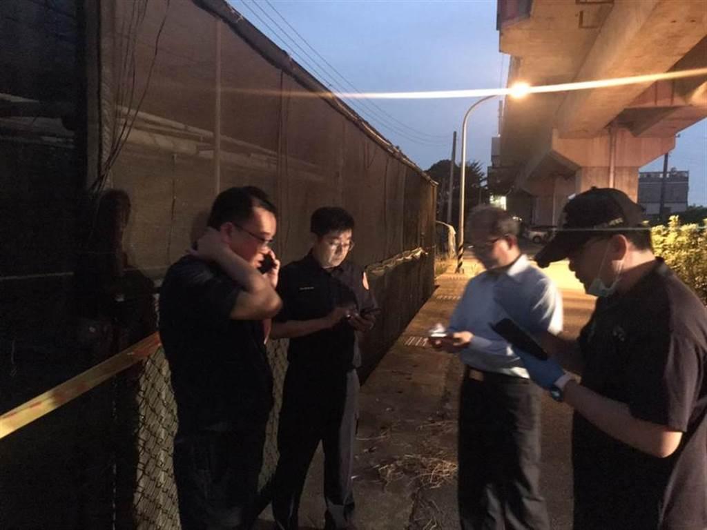 警方今天在歸仁區搜索鍾女遺體。(警方提供/曹婷婷台南傳真)