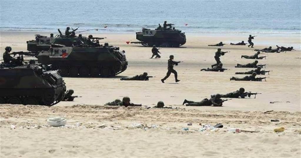 漢光演習國軍反登陸操練。圖僅為示意圖。(圖/中時資料照)