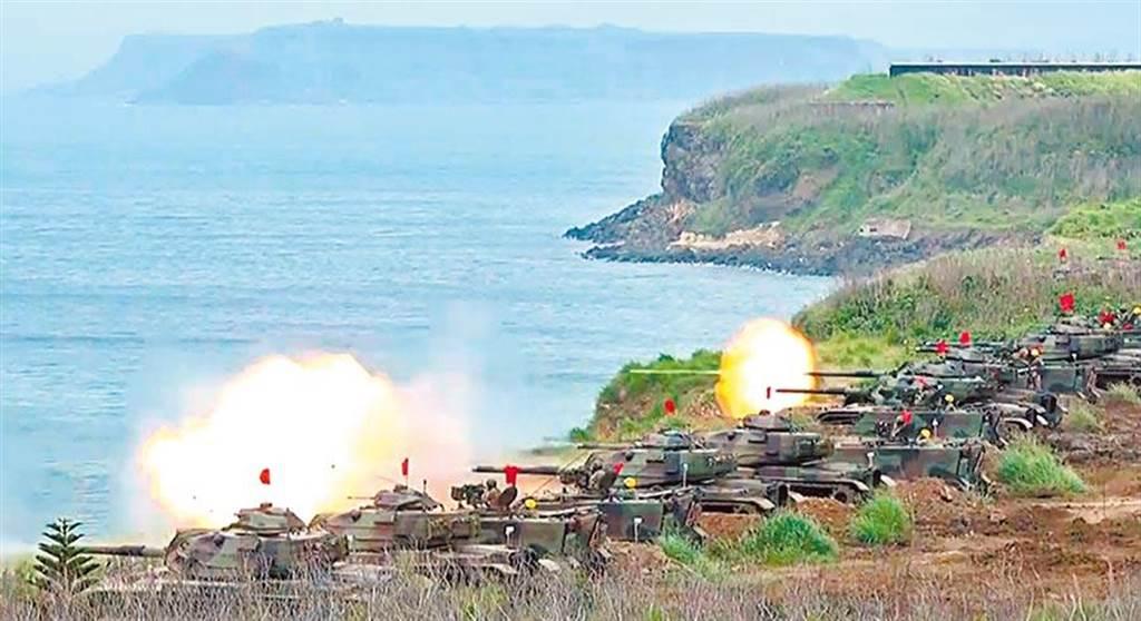 示意圖。圖為2017年5月25日,漢光33號演習,裝甲部隊在澎湖實施反登陸作戰操演。(軍聞社)
