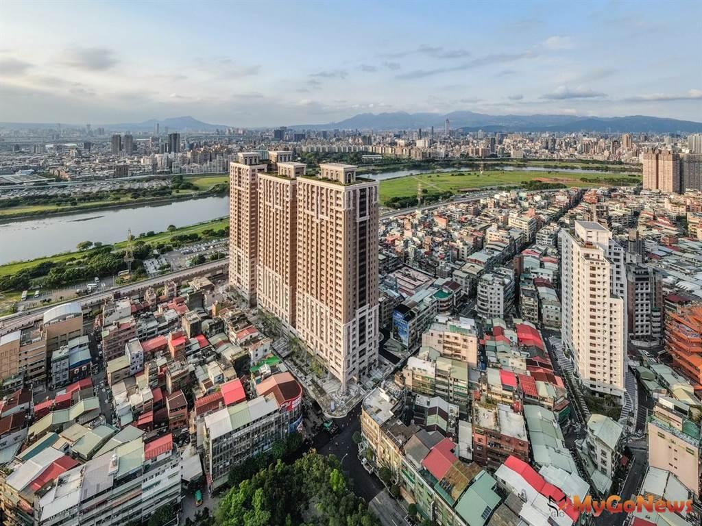 永和大陳社區更新已完成的建案「勝開大地」(圖/新北市政府)