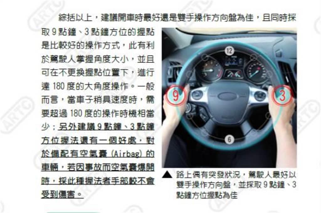 警方呼籲,「防禦安全駕駛」重要性,用路人勿「單手開車」、「危險小動作」等行為。(台中市警察局提供/張妍溱台中傳真)