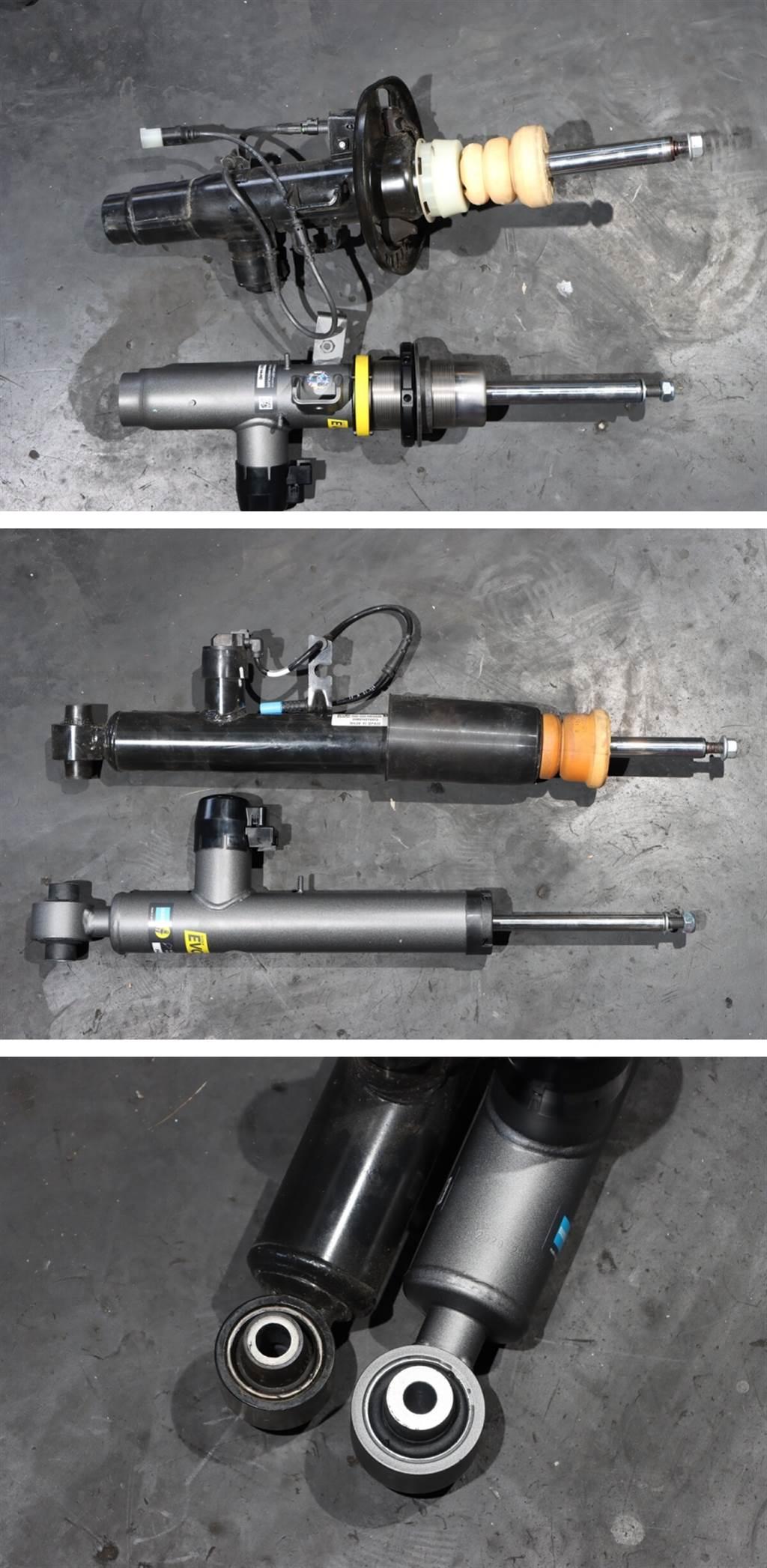 與原廠避震器相比,BILSTEIN EVO SE避震器減震筒的長度與原廠品差異不大,代表安裝時的難度不高,而後避震器下方的圓形固定座厚度,目視比原廠避震器更厚,可提供更好的路感與強度。