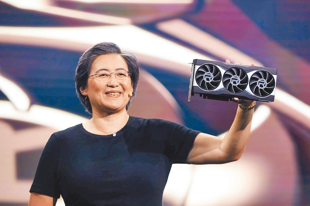 處理器大廠美商超微(AMD)總裁暨執行長蘇姿丰發表全新Radeon RX 6000系列顯示卡。圖/超微提供