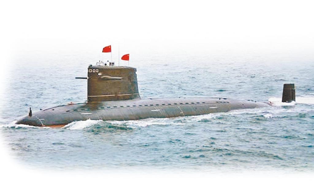 大陆解放军093级核动力潜舰。(取自环球网)