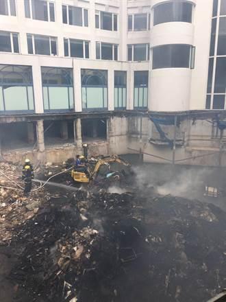 車城歇業酒店傳火警 警消到場發現在燒廢棄物