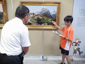 虎尾國中展出奇美館藏畫作 學生當起導覽員