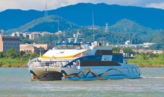 中山造238客位的高速船出港
