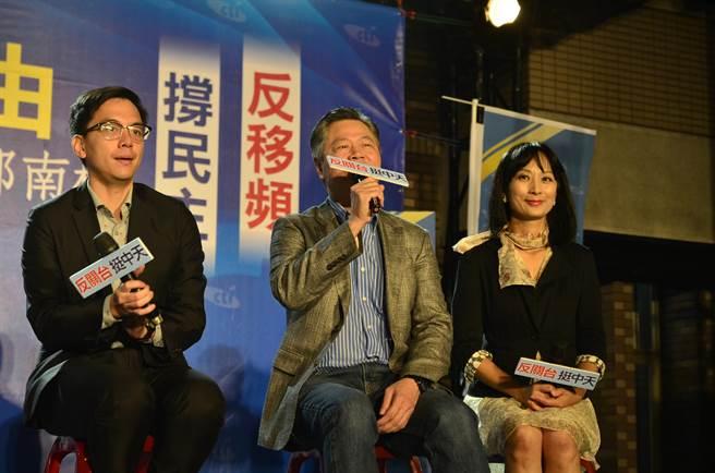国家暨国际事务专家赖岳谦表示,中天主张两岸和平,是真正维护国家安全的一份子。(黄婉婷摄)