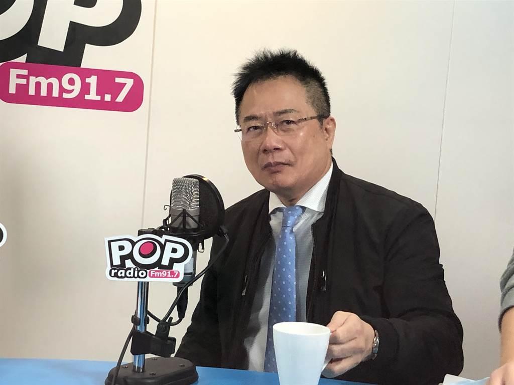 國民黨前副祕書長蔡正元。(趙婉淳攝)