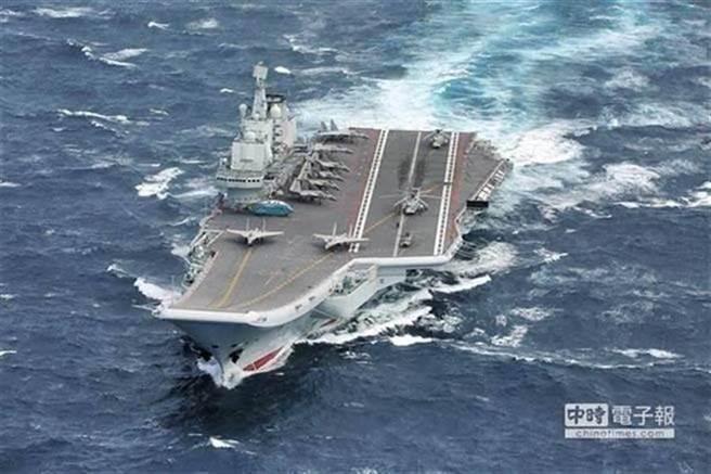 圖為共軍航空母艦,示意圖。(圖/本報系資料照)