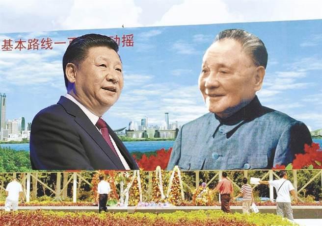 中共19屆五中全會公報沒有制定年度增長目標,而是以鄧小平設定的人均GDP到達中等發達國家水平為遠景目標,而且提前15年達成。(圖/設計示意圖)