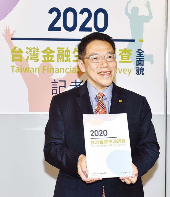 台灣金融研訓院30日公布國人金融生活調查,圖為台灣金融研訓院院長黃崇哲。圖/顏謙隆
