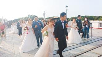 南市聯合婚禮 74對步紅毯