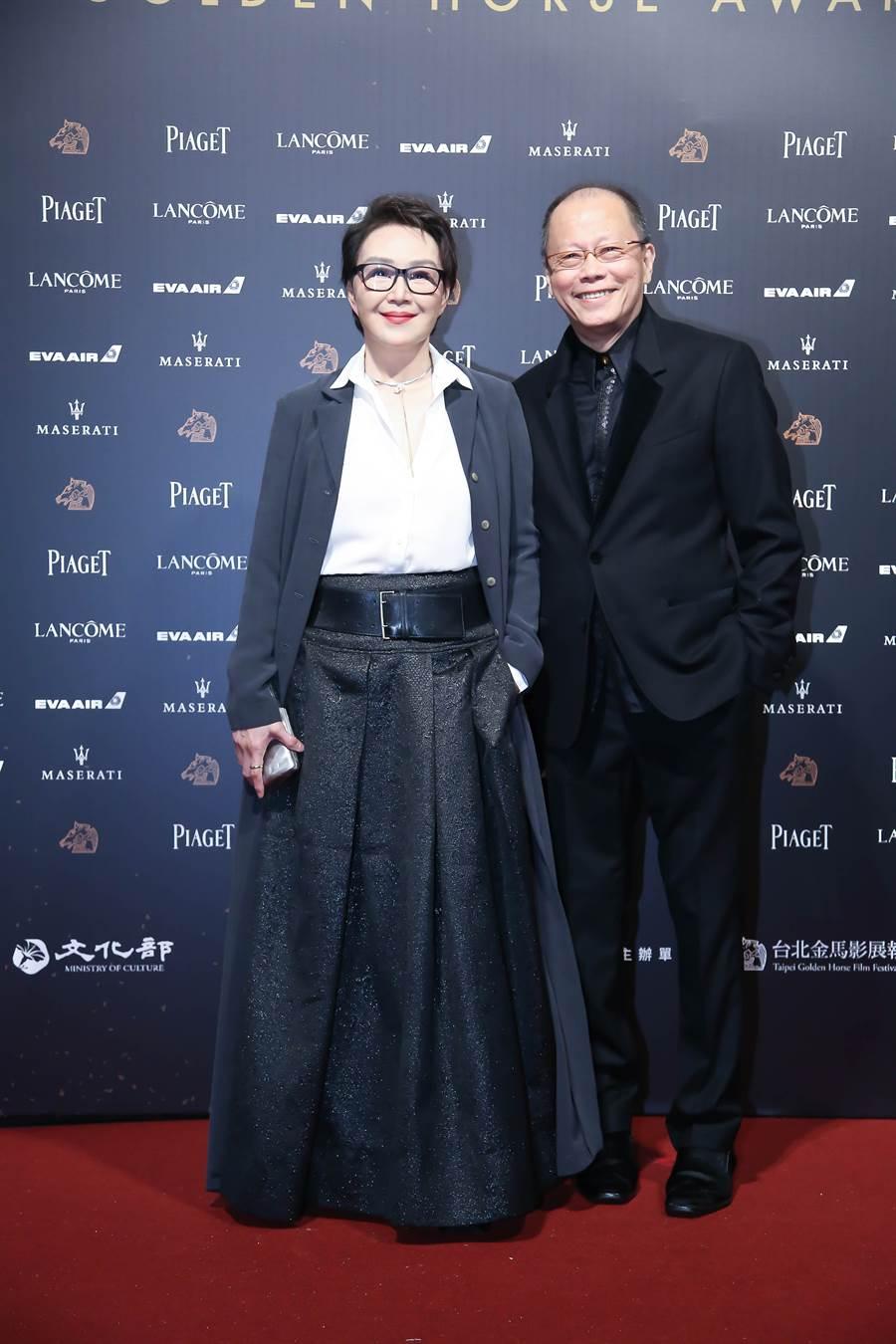 金马导演张毅和妻子杨惠姗鹣鲽情深。(图/本报系资料照片)