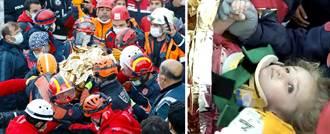 强震生命奇蹟 3岁女孩受困65小时被救出