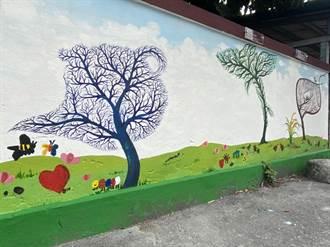 簡俊成領文化館創作壁畫 轉角遇見藝術「台東最美的牆」