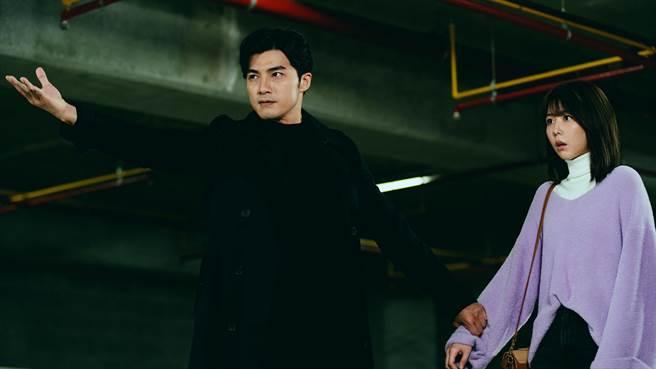 贺军翔和邵雨薇在《天巡者》中合理追查出曾莞婷遇害真相。(台视提供)