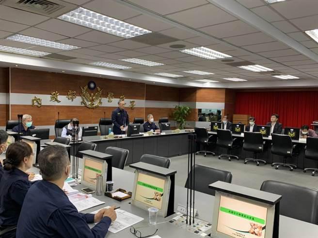警政署2日下午,為了加強校園安全維護工作,召開全國警察機關首長視訊會議。(警政署提供)