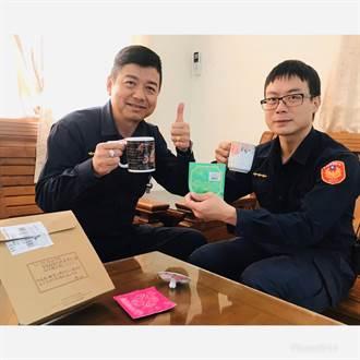 台北陈小姐感谢南庄警协助返家  遥寄手作咖啡致谢