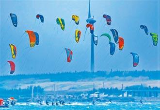 澎湖風箏浪板賽開鑼 60好手飆風