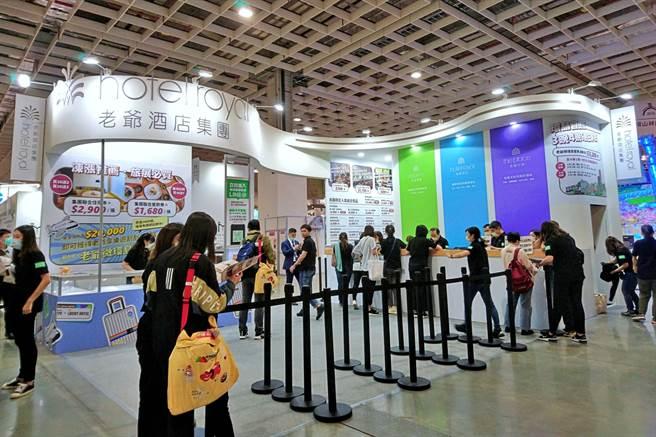 2020年ITF台北國際旅展落幕,老爺酒店集團受惠國旅需求帶動住宿券狂賣,現場4天加計線上旅展業績累計達近1.88億元、年增達1.45倍。(記者林資傑攝)
