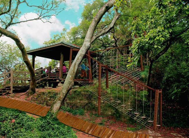 大坑風動石公園將新建複合拉繩組,圖為示意圖。(台中市觀旅局提供/王文吉台中傳真)