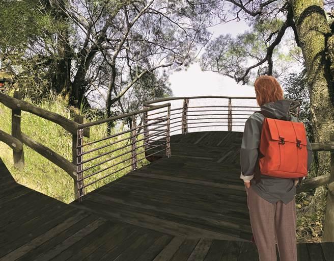 大坑風動石公園新建景觀平台示意圖。(台中市觀旅局提供/王文吉台中傳真)