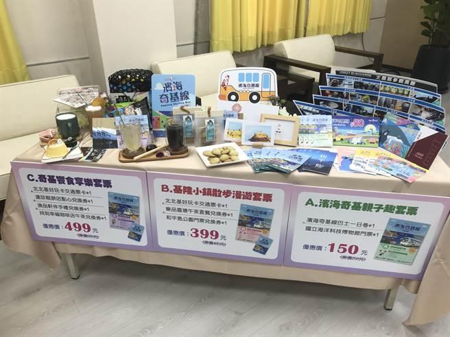 為鼓勵民眾搭乘濱海奇基線,觀銷處推出三款優質套票。(陳彩玲攝)