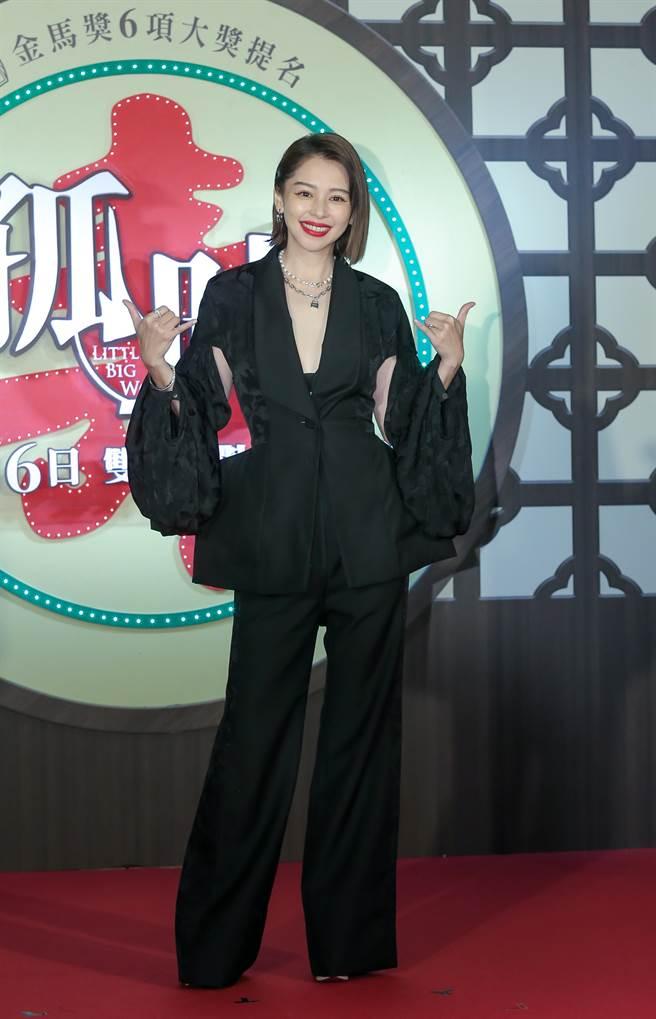 徐若瑄拼了命宣傳自己主演及監製的電影《孤味》。(盧禕祺攝)