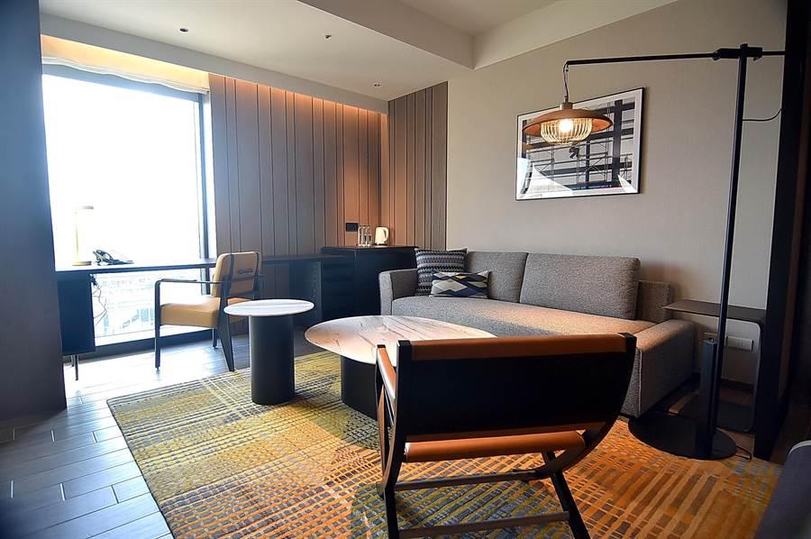 〈台北時代寓所〉有175客房,並有6種不同房型,其中最高級的為「時代套房」。(圖/姚舜)