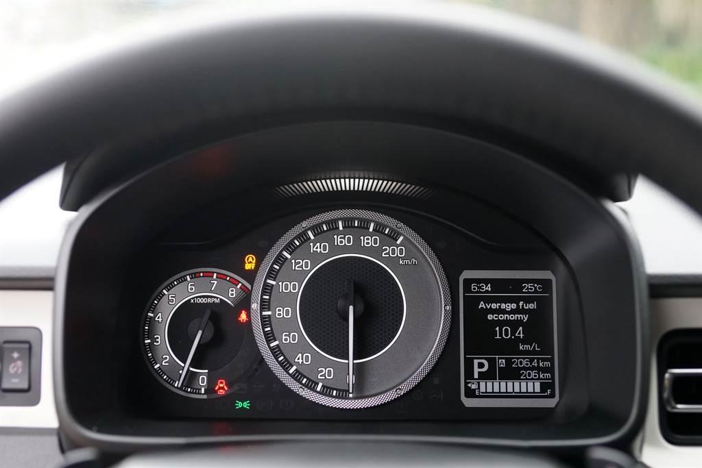儀表內的行車資訊可顯示Hybrid系統作動狀態。