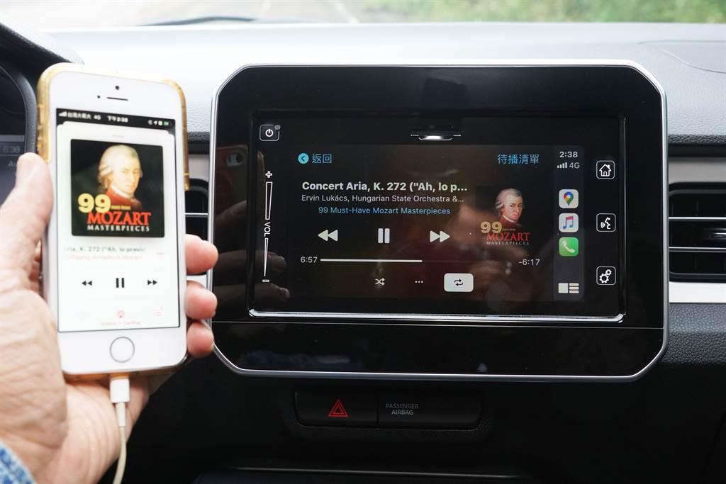 可支援Apple CarPlay及Android Auto系統的7吋觸控螢幕列為標配,並具備CCD倒車影像輔助功能。