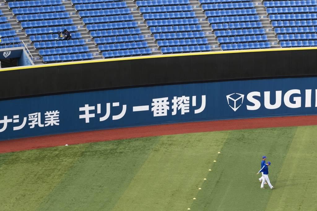 日本職棒進入例行賽最終階段,本季因受疫情影響央聯直接由巨人軍奪下優勝晉級日本一總冠軍賽。(美聯社資料照)