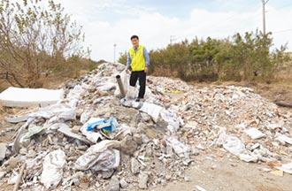 台中海線廢棄物濫倒 把政府當塑膠