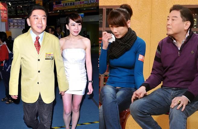 高國華、陳子璇當年上節目落淚談戀情。(圖/中時資料照片)