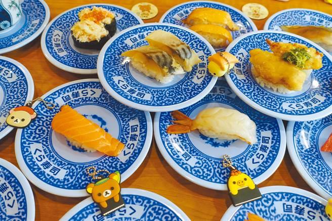 連鎖壽司品牌藏壽司時常推出期間限定款各式人氣壽司。(黃采薇攝)